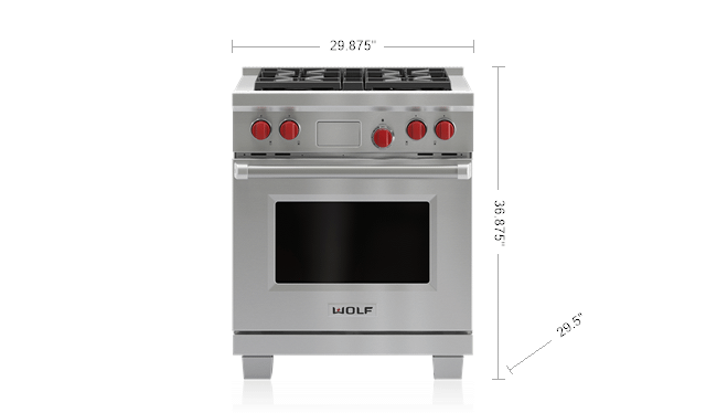 "WolfLegacy Model - 30"" Dual Fuel Range - 4 Burners"