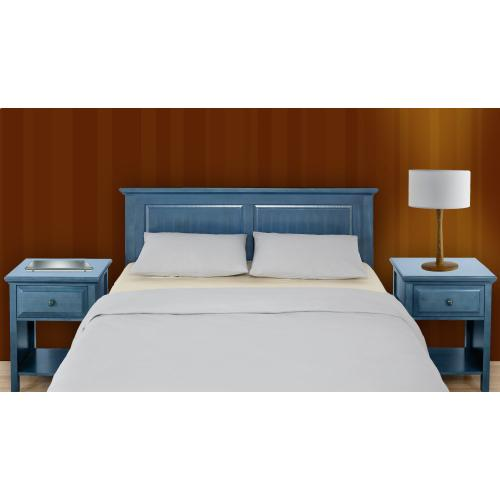 HB45-CB Full/Queen Cottage Style Headboard in Wedgewood Blue