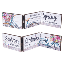 Springtime Bicycle Accordion Signs (6 pc. ppk.)