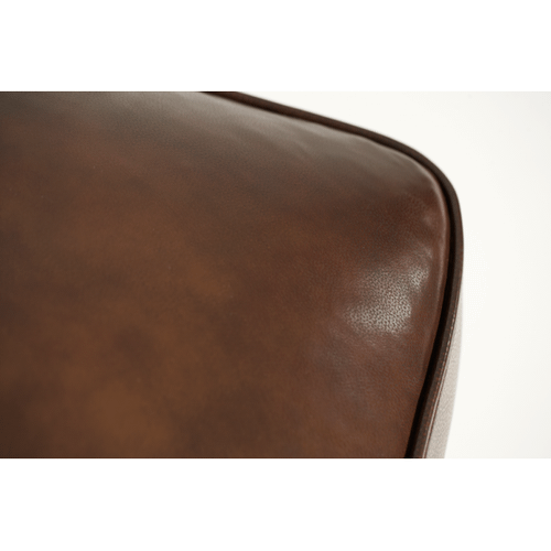 Wood Trim Leather Chair Ottoman - Opt1