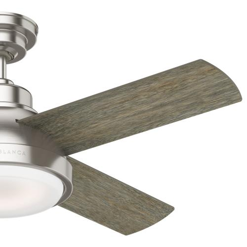 Levitt with LED Light 44 inch - Brushed Nickel - Brushing Barnwood