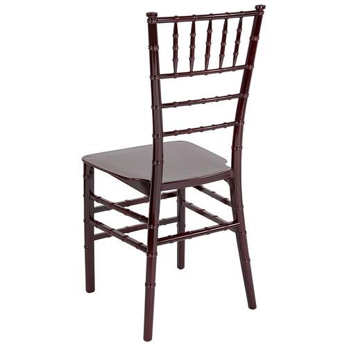 Flash Furniture - HERCULES Series Mahogany Resin Stacking Chiavari Chair