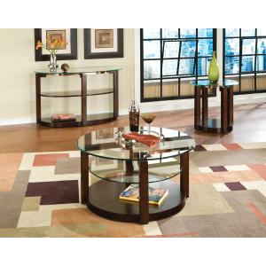 Standard Furniture - Coronado Round Cocktail Table with Casters, Brown