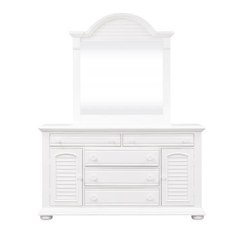 King Storage Bed, Dresser & Mirror, Night Stand