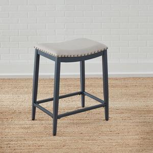 Liberty Furniture Industries - Backless Uph Counter Chair- Navy