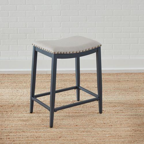 Backless Uph Counter Chair- Navy