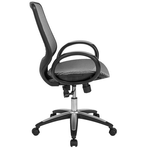 Flash Furniture - Newton Mid-Back Ergonomic Office Chair with Contemporary Mesh Design in Gray