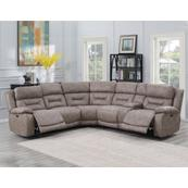 Aria 3-Piece Dual-Power Reclining Sectional, Desert Sand