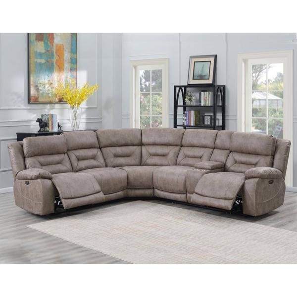 Aria Desert Sand 3-Piece Dual-Power Reclining Sectional