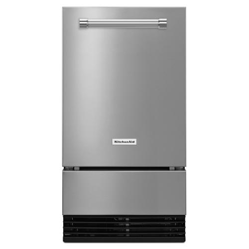KitchenAid - 18'' Automatic Ice Maker - Stainless Steel