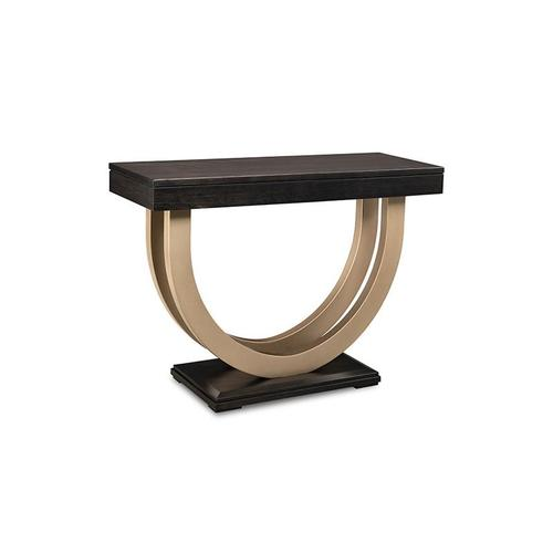 """- Contempo Pedestal 36"""" Sofa Table with Metal Curves"""