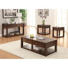 View Product - Riata - Rectangular Coffee Table - Warm Walnut Finish