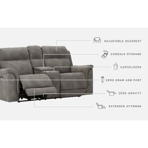 Signature Design By Ashley - Next-gen Durapella Power Reclining Loveseat With Console