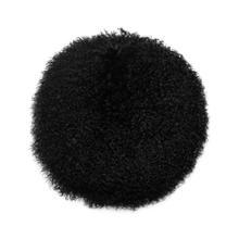 "New Zealand Black Sheepskin 16"" Round Pillow"