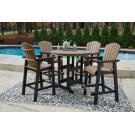 Outdoor Bar Table and 4 Barstools Product Image
