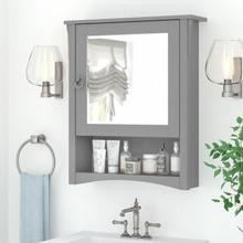 Salinas Bathroom Bathroom Medicine Cabinet with Mirror - Cape Cod Gray