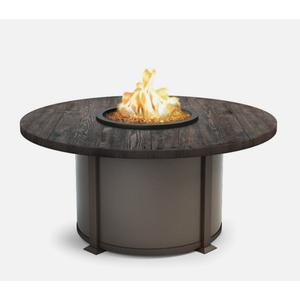"""54"""" Round Chat Fire Pit Ht: 24.5"""" Valero Aluminum Base (Indicate Top, Frame, & Side Panel Color)"""