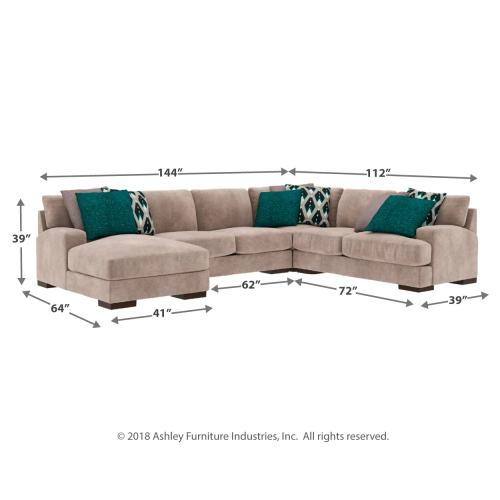 Bardarson 4-piece Sectional With Chaise