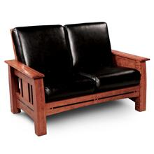 Aspen Loveseat, Leather Cushion Seat