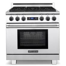 "36"" Medallion Series Dual Fuel Self-clean Gas Range"
