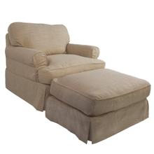 See Details - Horizon Slipcovered Chair and Ottoman - Color 466082