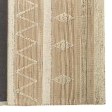 Paloma I 96 x 60 Brown/Cream Hemp/Wool Raised Detail Rug