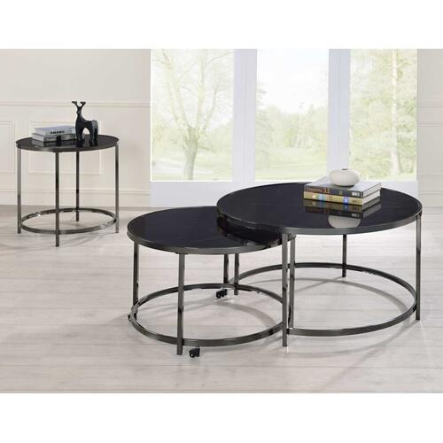 Rayne Nesting Cocktail Table, Black