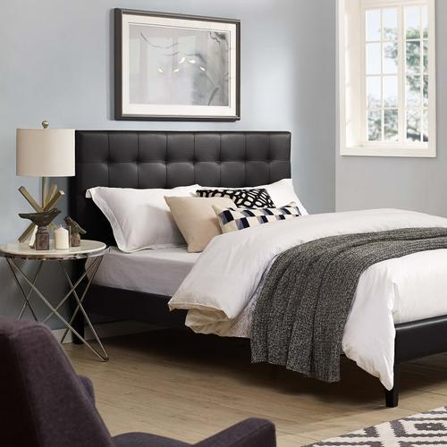 Modway - Paisley Tufted Full / Queen Upholstered Faux Leather Headboard in Black