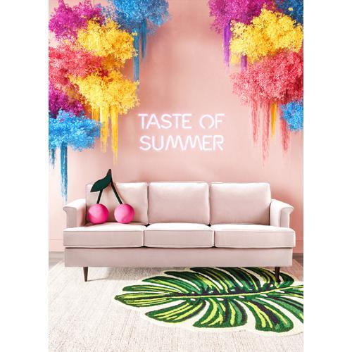 Porter Blush Velvet Sofa