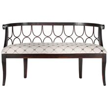 Nrma Upholstered Bench - Grey / Beige