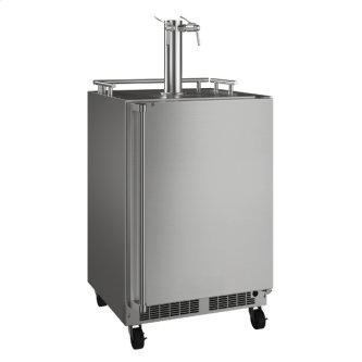 24-In Outdoor Mobile Dispenser For Beer, Wine Or Draft Beverages with Door Style - Stainless Steel
