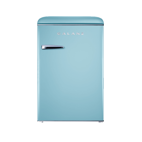 Galanz 4.4 Cu Ft Retro Single Door Refrigerator in Bebop Blue