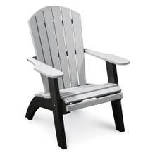 See Details - RK Outdoor Adirondack Chair, Light Grey & Black