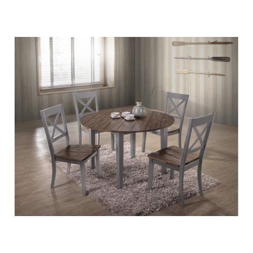 5059 A La Carte Grey 5-Piece Round Dining Set