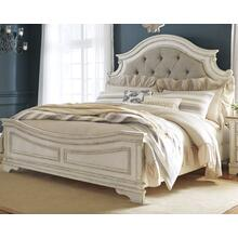 Realyn Queen Upholstered Panel Bed Chipped White