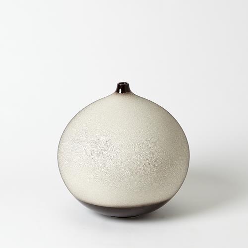 Pixelated Ball Vase-Black/Brown-Lg
