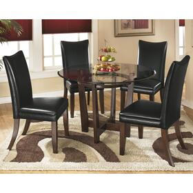 Charrell Table & 4 Chairs Medium Brown/Black