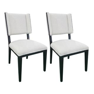 See Details - Owen Upholstered Wing Dining Chair Set of 2