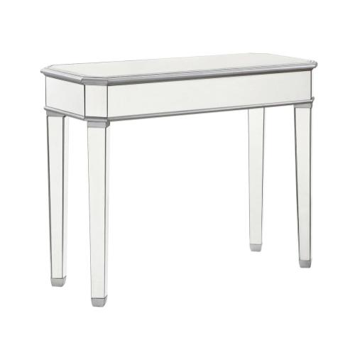 Rectangle Table 41 in. x 17 in. x 33 in. in Silver paint