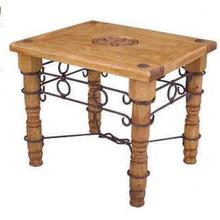 See Details - Star End Table W/ Iron Accents