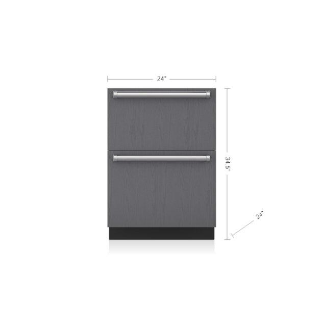 "Subzero 24"" Designer Freezer Drawers with Ice Maker - Panel Ready"