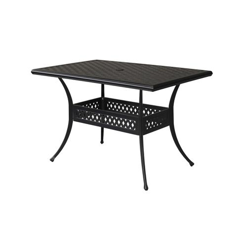 "Bonita Weave 56"" x 36"" Rectangular Gathering Table w/ Umbrella Hole"