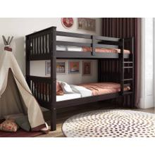 Twin Over Twin Mission Bunk Bed, Java