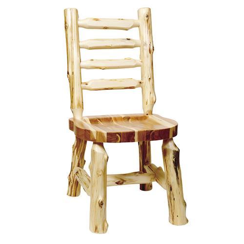 Ladder-back Side Chair - Natural Cedar - Wood Seat
