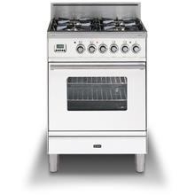 24 Inch True White Natural Gas Freestanding Range