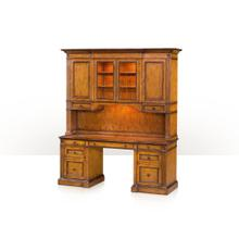 See Details - A honey pine office bookcase