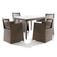 Maldives 5 PC Woven Armchair Dining Set