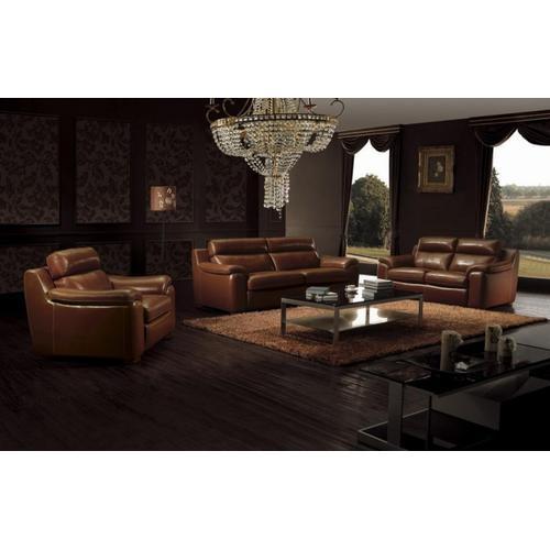 Divani Casa BO3936 Modern Brown Leather Sofa Set