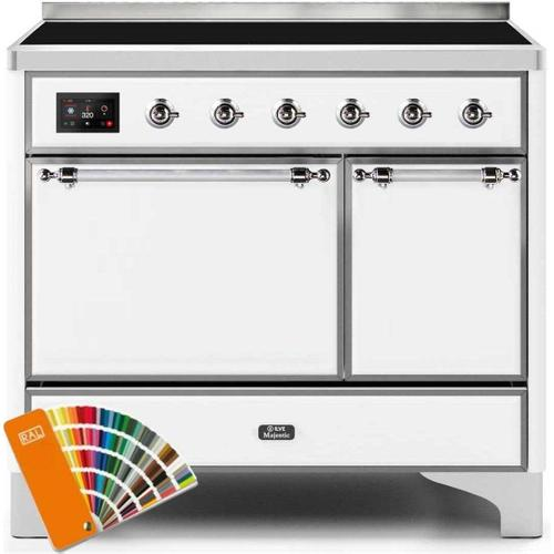 Ilve - Majestic II 40 Inch Electric Freestanding Range in Custom RAL Color with Chrome Trim