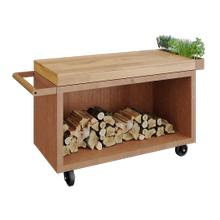 View Product - Mise en Place Table Corten 135 PRO Teak Wood
